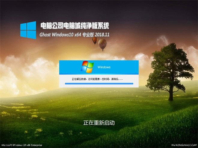 电脑公司 Win10专业版 64位 V201811