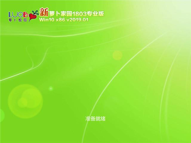 萝卜家园 Win10 x86专业版v2019.01