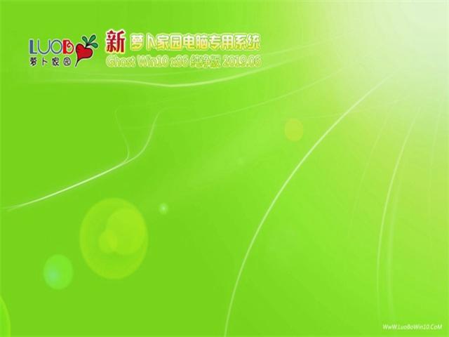 新萝卜家园Ghost win10 x86 纯净版v2019.06