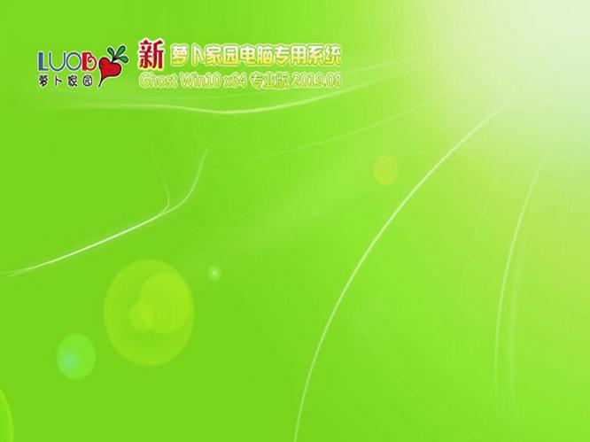 新萝卜家园Ghost Win10 x64 专业版v2019.08
