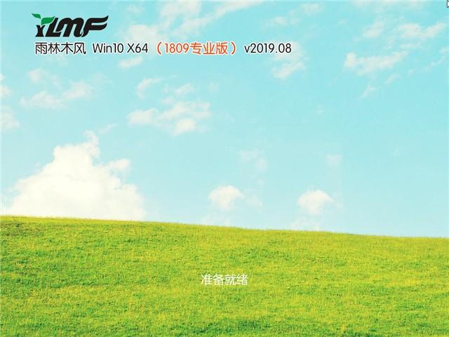 雨林木风Ghost Win10 x64 旗舰版v2019.08