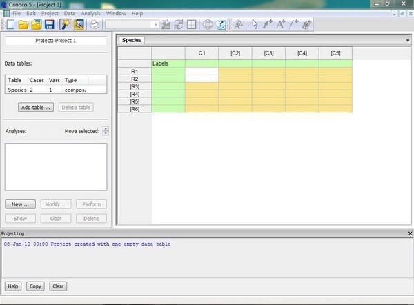 Canoco(生态数据处理软件) v5.02免费版