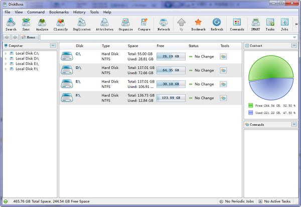 硬盘空间分析(DiskBoss) v9.8.16免费版