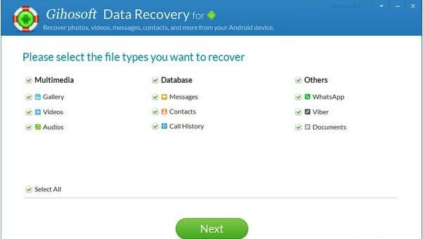 Gihosoft Free Android Data Recovery(安卓数据恢复软件) v7.0.5免费版